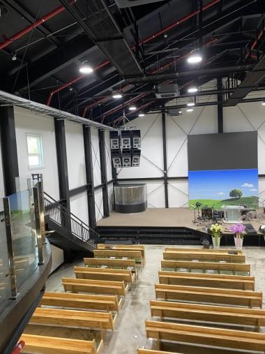 일산 아름다운우리교회 드럼부스 타입D 라이트 설치